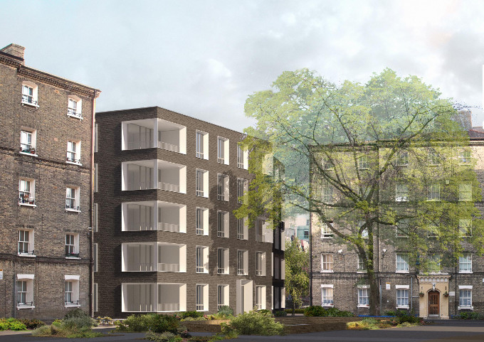 Proposed housing in Whitechapel: Photo courtesy of Níall McLaughlin