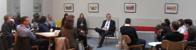 Andrew Sissons speaking at BL-NK