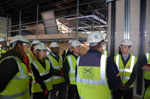 Canary Wharf Crossrail visit