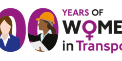 100 Years of Women in Transport logo