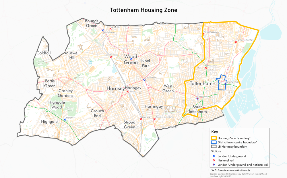 Tottenham London Map.Housing Zones Tottenham Future Of London