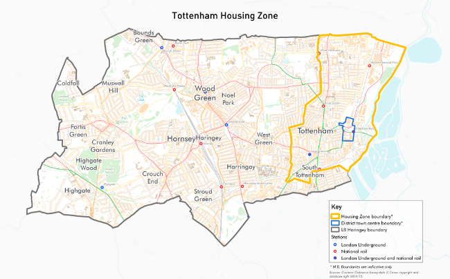 Map of Tottenham Housing Zone