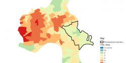 Poplar Riverside Housing Zone PTAL map 650px