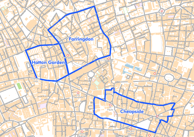 Cheapside, Hatton Garden and Farringdon business improvement district