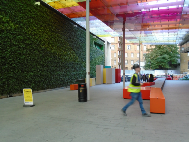 Victoria BID green wall