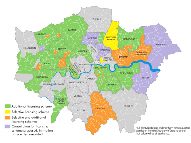 Licensing activity in London, July 2017