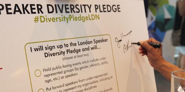 speaker diversity pledge