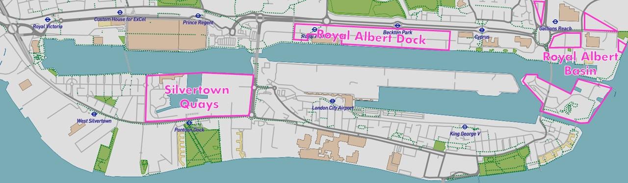royal docks development areas