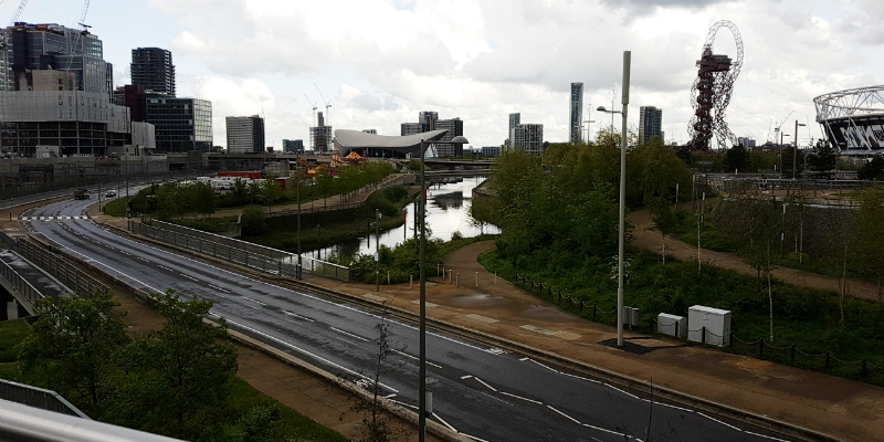 levels of public realm in Olympic Park