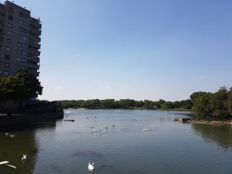 The lake at Thamesmead