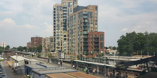 east croydon station and new housing