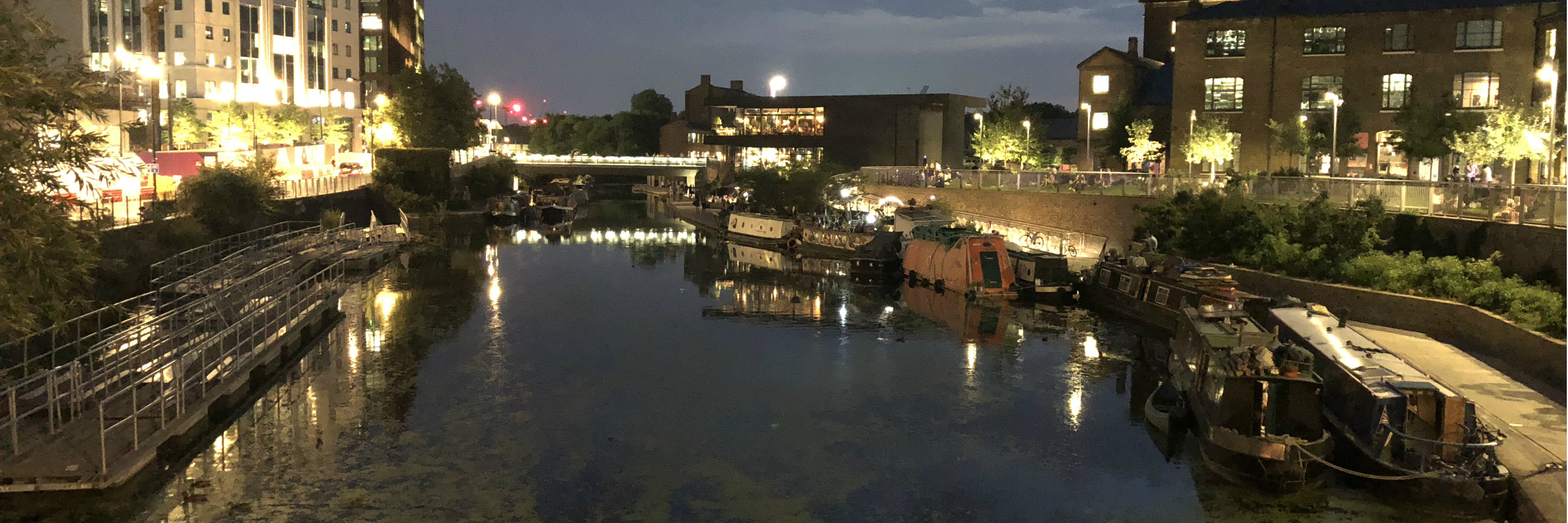 waterways: Regents canal looking at Granary Square