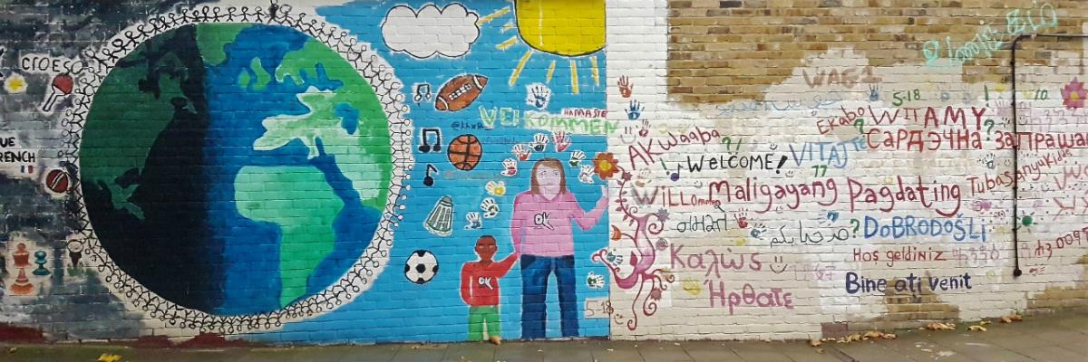 social value header of colourful mural in south kilburn