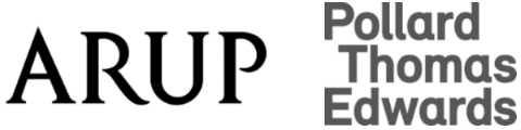 logos of project sponsors arup and pollard thomas edwards