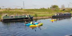 Kayaking on the River Lea