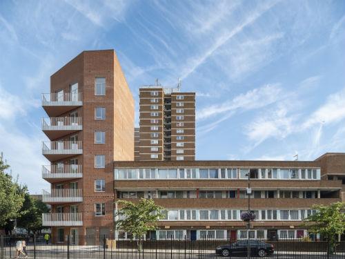 27 new community-led homes at Marklake Court, an award winning scheme in Southwark. Photo by Kilian O'Sullivan, courtesy of Leathermarket CBS