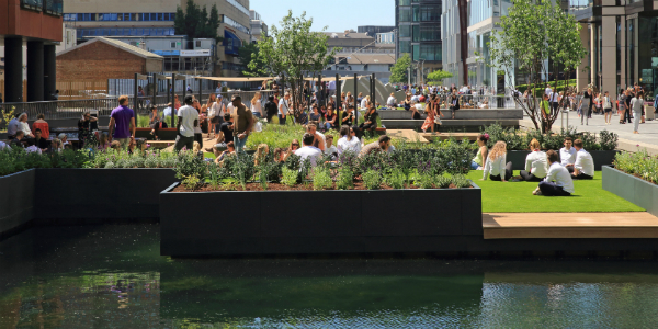 paddington basin floating pocket park, courtesy of Paddington Partnership