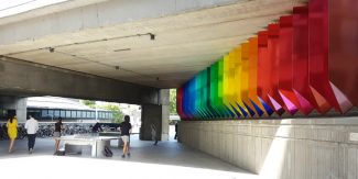 ping pong and public art under the westway flyover in paddington