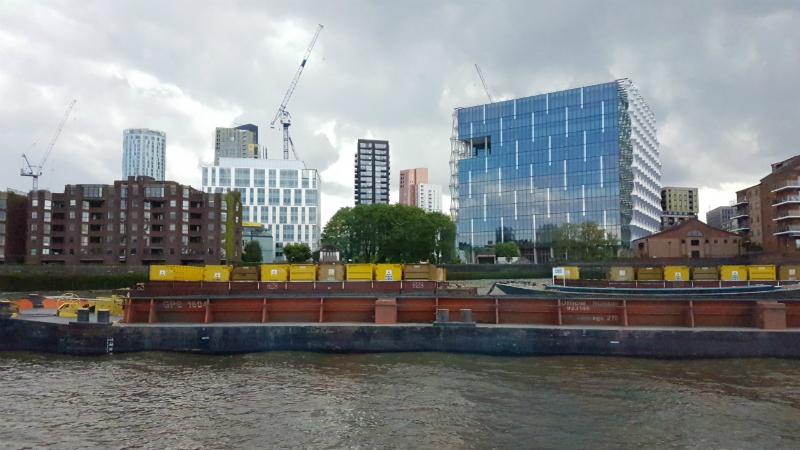 construction waste barge