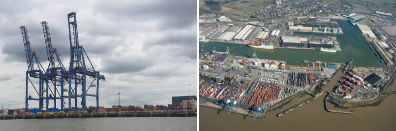 Operations at Port of Tilbury