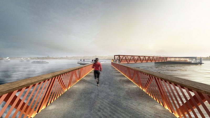 Royal Wharf Pier CGI