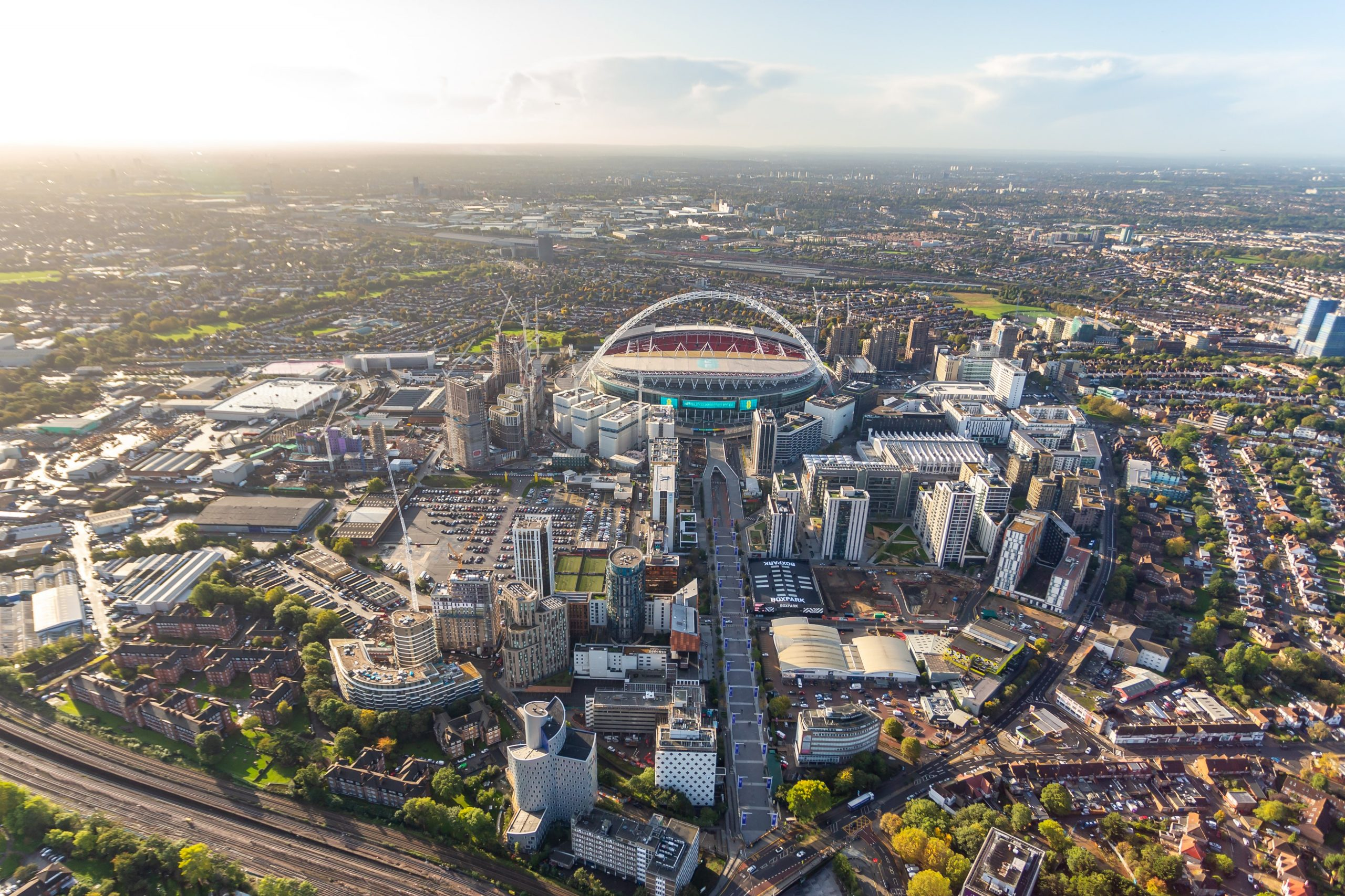 Growth around Wembley stadium in Brent