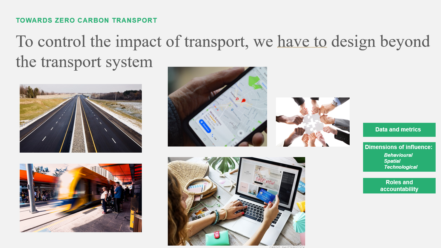 Images associated with transport, like roads and trains