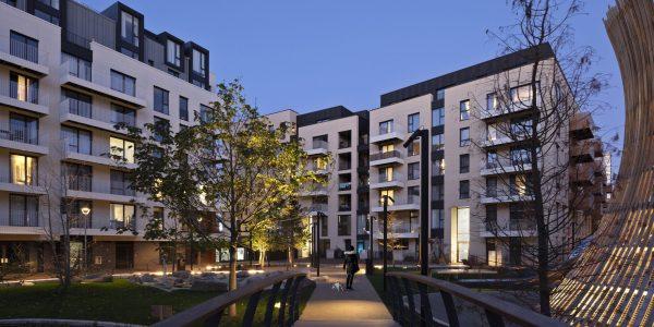 Blocks of flats at night