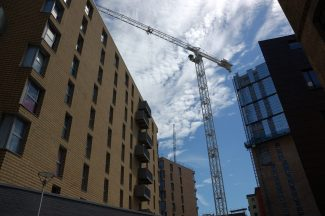 Crane over new housing development