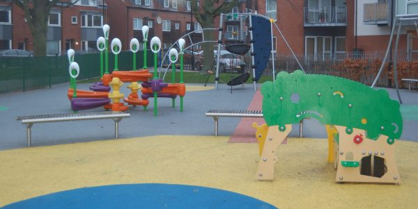 Children and families, play space
