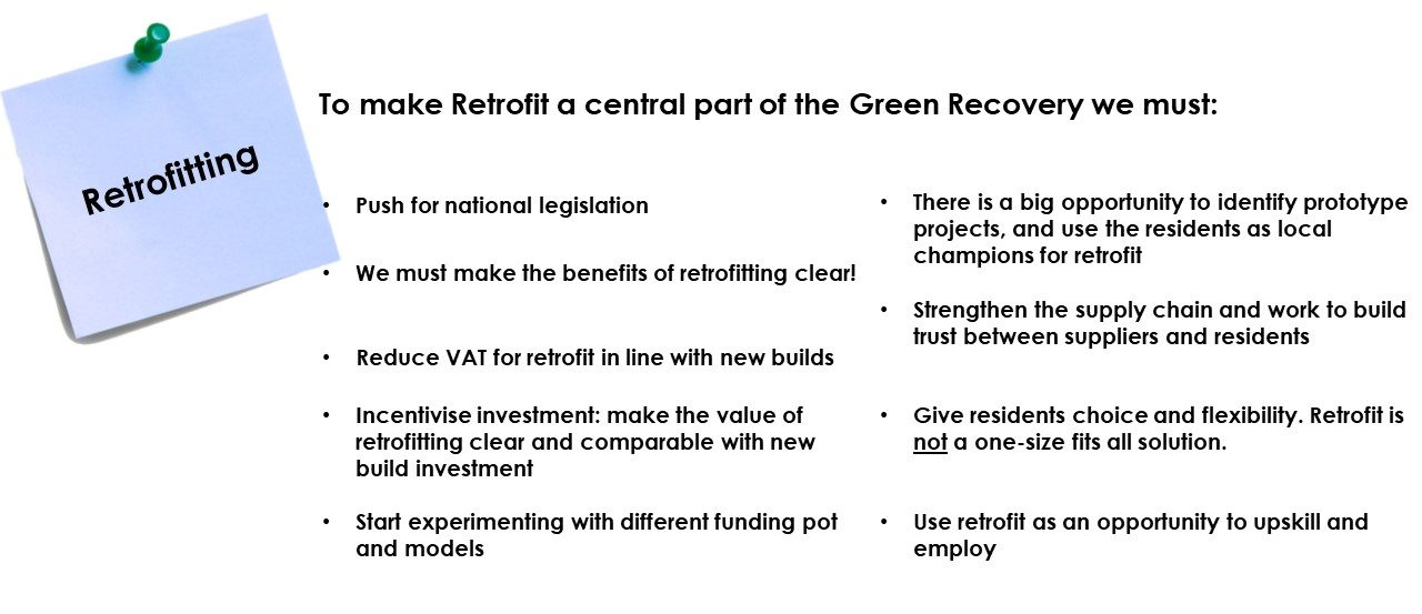 Towards green recovery solutions workshop output