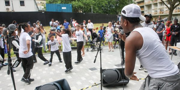 Musicians perform outdoor concert to the community