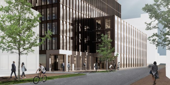 Picture of what The Forge, the UK's first zero carbon commercial development, will look like.