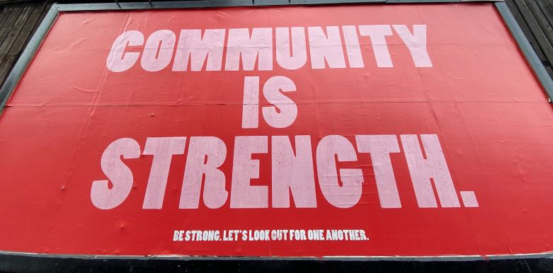 community is strength poster, people, place and community report
